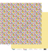 Бумага для скрапбукинга двусторонняя 30.5х30.5 см, 190 гр/м2, коллекция Красна девица, лист Любимые забавы