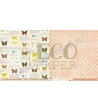 Бумага для скрапбукинга двусторонняя коллекция Атлас бабочек, 30.5х30.5 см, 250 гр/м, лист Определитель