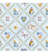 Фланель Peppy Holly Hobby, размер 50х55 см, 100% хлопок, цвет голубой