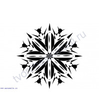 ФП штамп (печать) Снежинка-2, 3х3 см