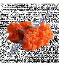 Шебби-лента мятая, Оранжевый, ширина 14мм