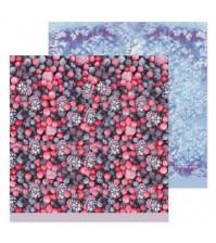 Бумага для скрапбукинга двусторонняя 30.5х30.5 см, 190 гр/м, лист Лесные ягоды