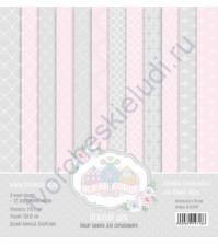Набор двусторонней бумаги для скрапбукинга Нежный шик, 30х30 см, 250 гр/м, в наборе 12 листов
