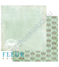 Лист бумаги для скрапбукинга Первый танец ,коллекция Королевкий Бал,30 на 30, плотность 190 гр