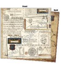 Бумага для скрапбукинга двусторонняя Avignon, 190 гр/м2, 30.5х30.5 см, лист Diagram