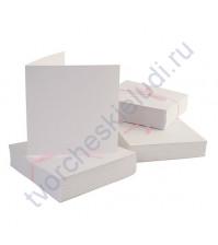 Заготовка для открытки с конвертом 13.5х13.5 см, цвет белый, 1 шт