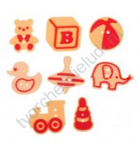 Набор декоративных резиновых пуговок Любимые игрушки, 8 штук