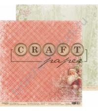 Бумага для скрапбукинга двусторонняя коллекция Рождество, 30.5х30.5 см, 190 гр/м, лист Счастливая звезда