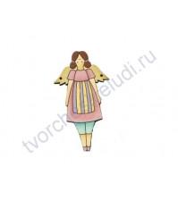 Декоративная пуговица Девочка в розовом, 39х71 мм
