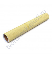 Винил клеевой глиттерный, цвет золотой глиттер, 30.5х30.5 см (+/- 0.5см)