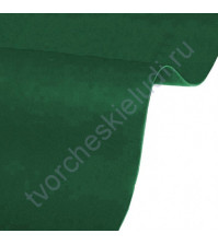 Кожзам переплетный на полиуретановой основе плотность 230 гр/м2, 50х70 см, цвет 4727-темно-зеленый