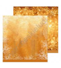 Бумага для скрапбукинга двусторонняя 30.5х30.5 см, 190 гр/м, лист Новогодние блестки