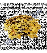 Пайетки в форме сердца с эффектом металлик 8 мм, 10 гр, цвет 10-желтый