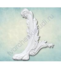 Форма силиконовая (молд) для полимерной глины Вензель Лапа левый, 70х55 мм