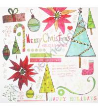 Набор натирок Happy Holidays, размер листа 20х20 см