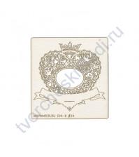 Чипборд Королевская рамка, размер рамки 9.5х10 см